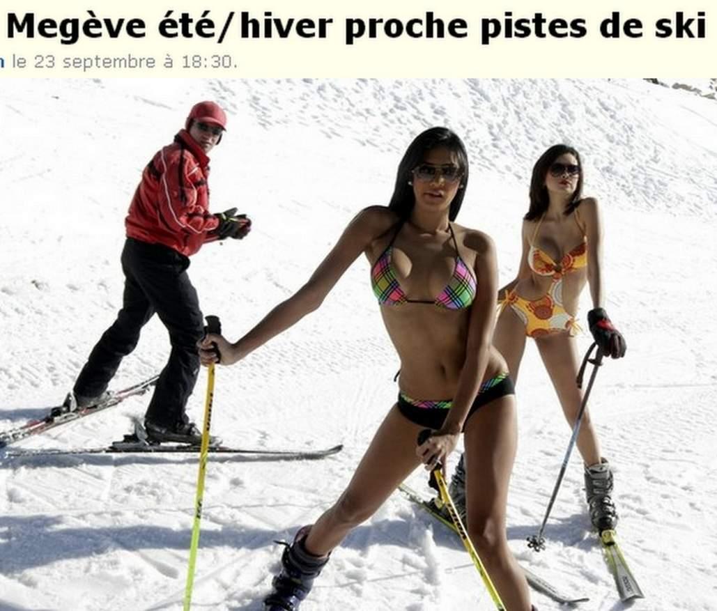 Русская телка на лыжном курорте